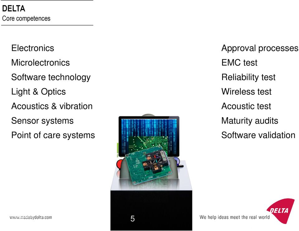 Point of care systems Approval processes EMC test Reliability