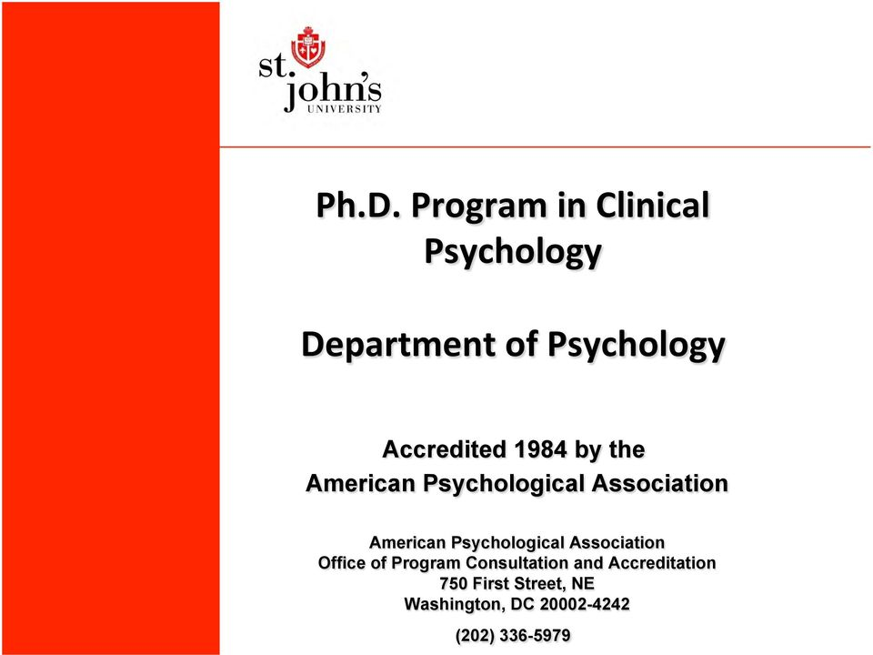 Psychological Association Office of Program Consultation and