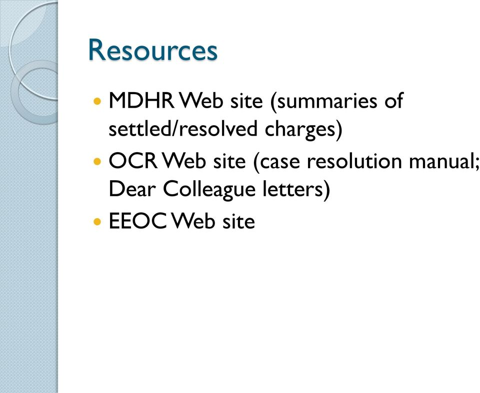 Web site (case resolution manual;