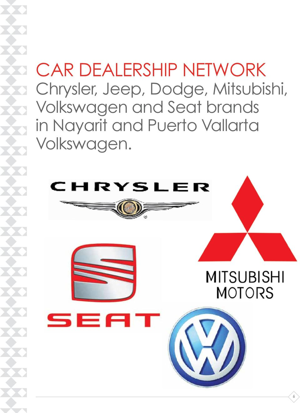 Volkswagen and Seat brands in