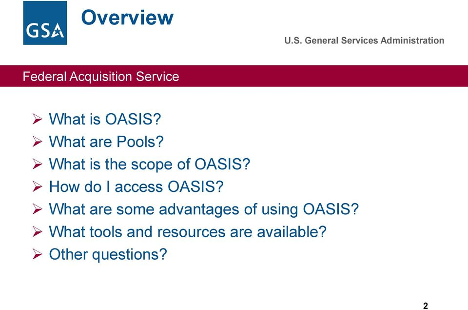 How do I access OASIS?