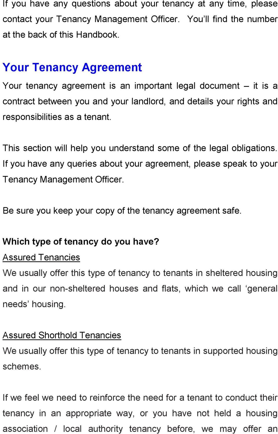 Tenants Handbook For Residents In Houses Flats Welcome To Luton