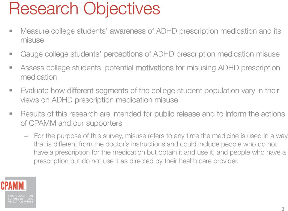 Evaluate how different segments of the college student population vary in their views on ADHD prescription medication misuse!
