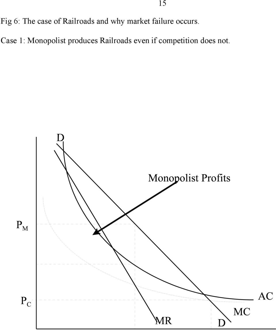 Case 1: Monopolist produces