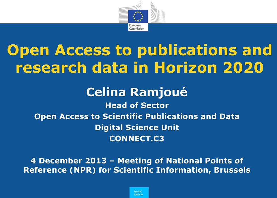 Publications and Data Digital Science Unit CONNECT.