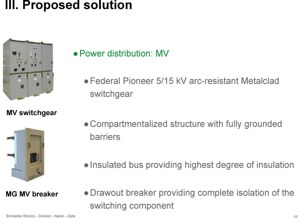 barriers Insulated bus providing highest degree of insulation MG MV breaker Drawout