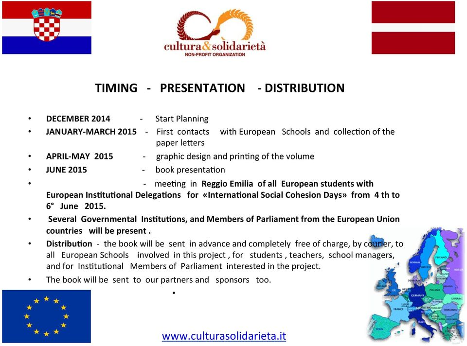 onal Social Cohesion Days» from 4 th to 6 June 2015. Several Governmental Ins.tu.ons, and Members of Parliament from the European Union countries will be present. Distribu.
