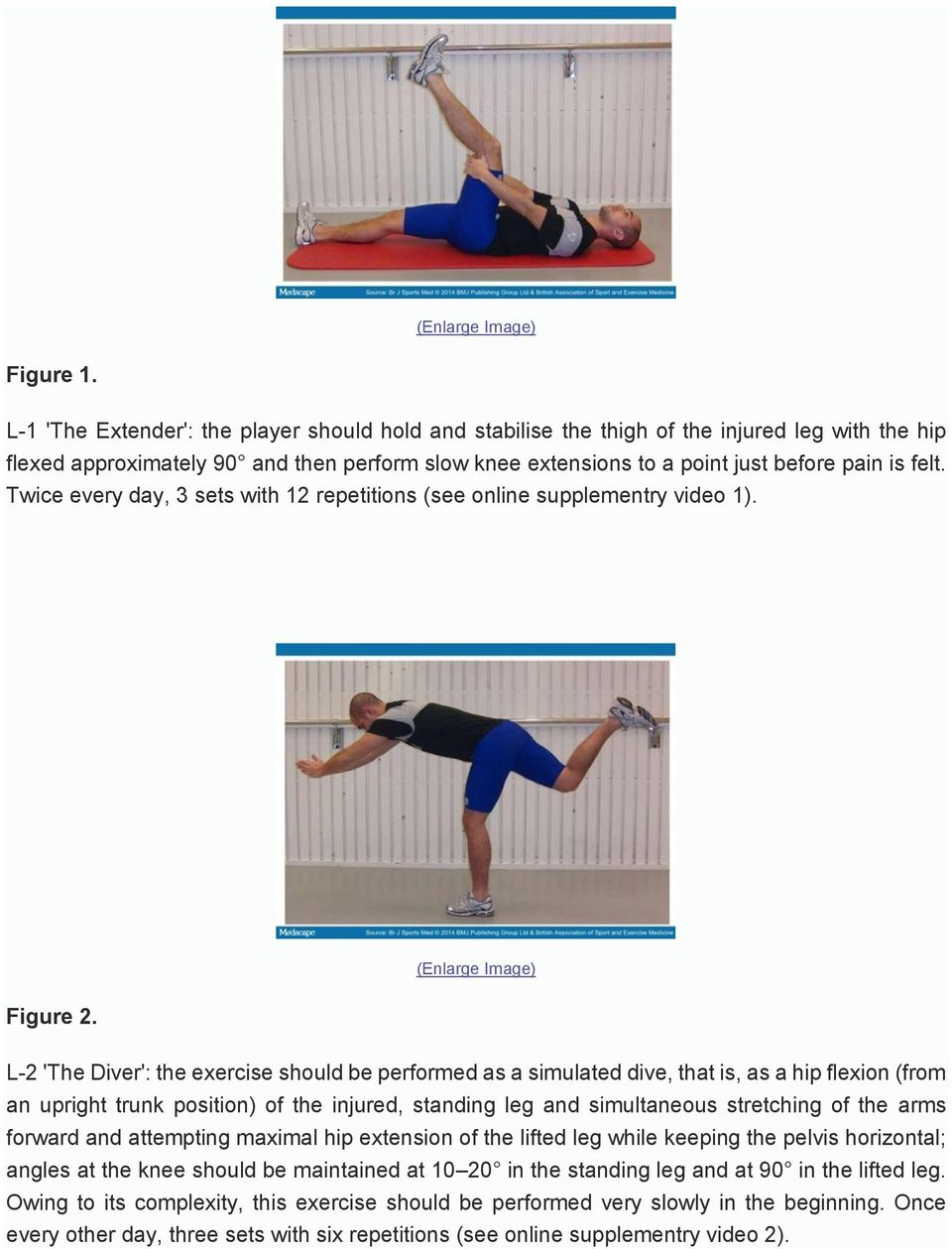 Twice every day, 3 sets with 12 repetitions (see online supplementry video 1). (Enlarge Image) Figure 2.
