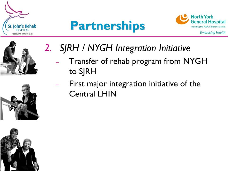 Transfer of rehab program from NYGH