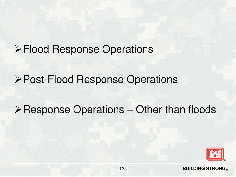Operations Response