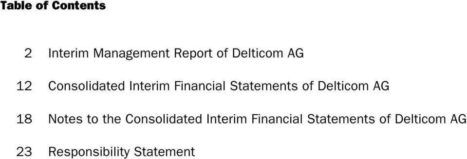 Statements of Delticom AG 18 Notes to the Consolidated