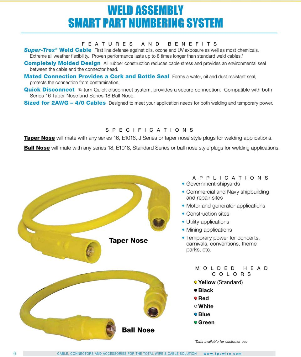 Providing The Total Wire Cable Solution For Government Pdf Wiring Numbering Convention Completely Molded Design All Rubber Construction Reduces Stress And Provides An Environmental Seal Between