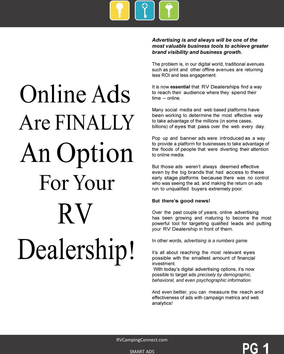 It is now essential that RV Dealerships find a way to reach their audience where they spend their time online.