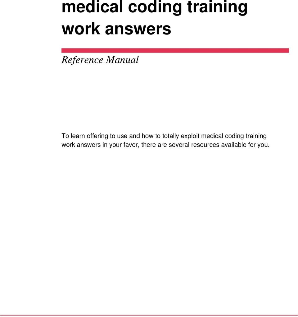 exploit medical coding training work answers in