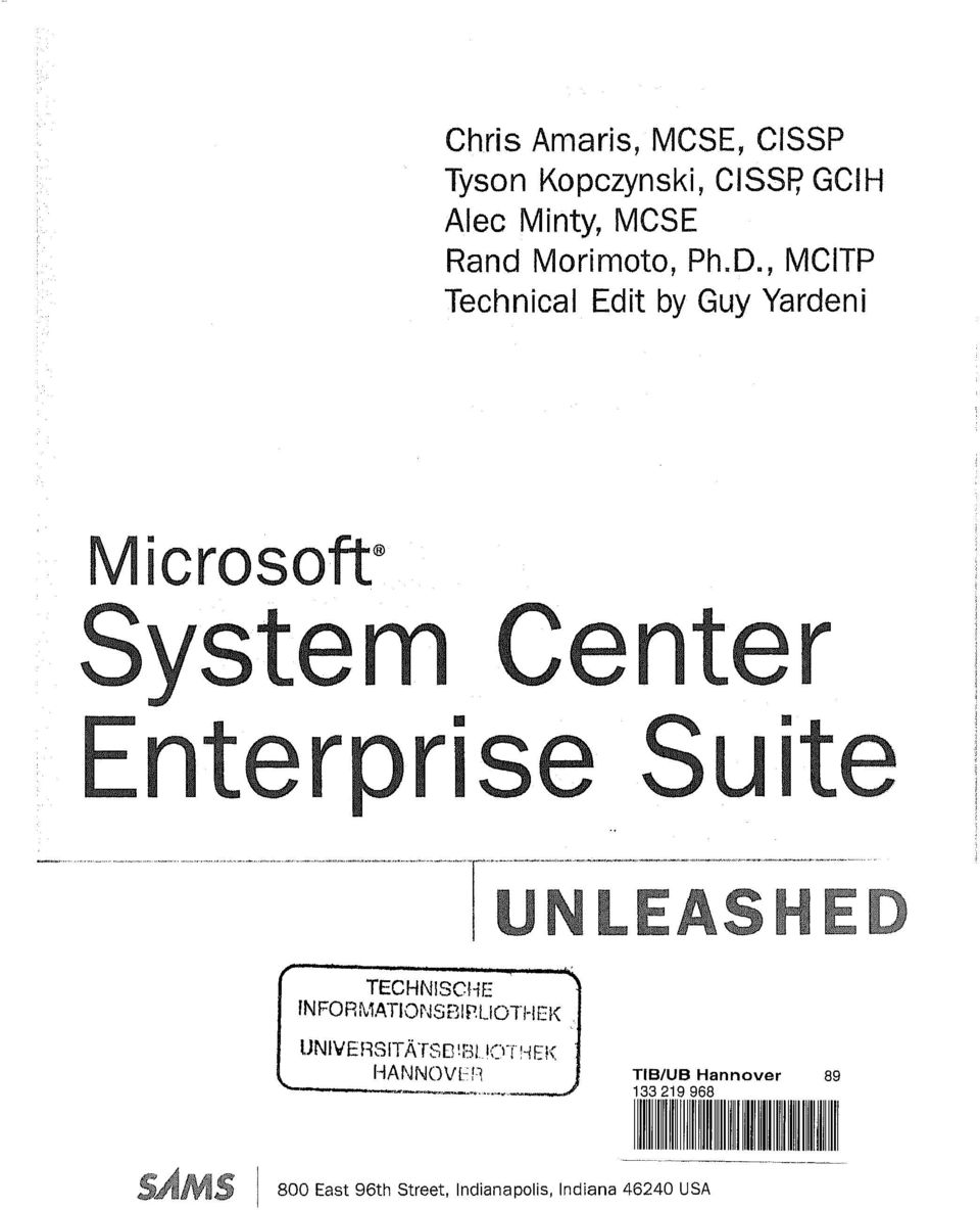 ", MCITP Technical Edit by Guy Yardeni Microsoft"" System Center /""""X i nterprise"
