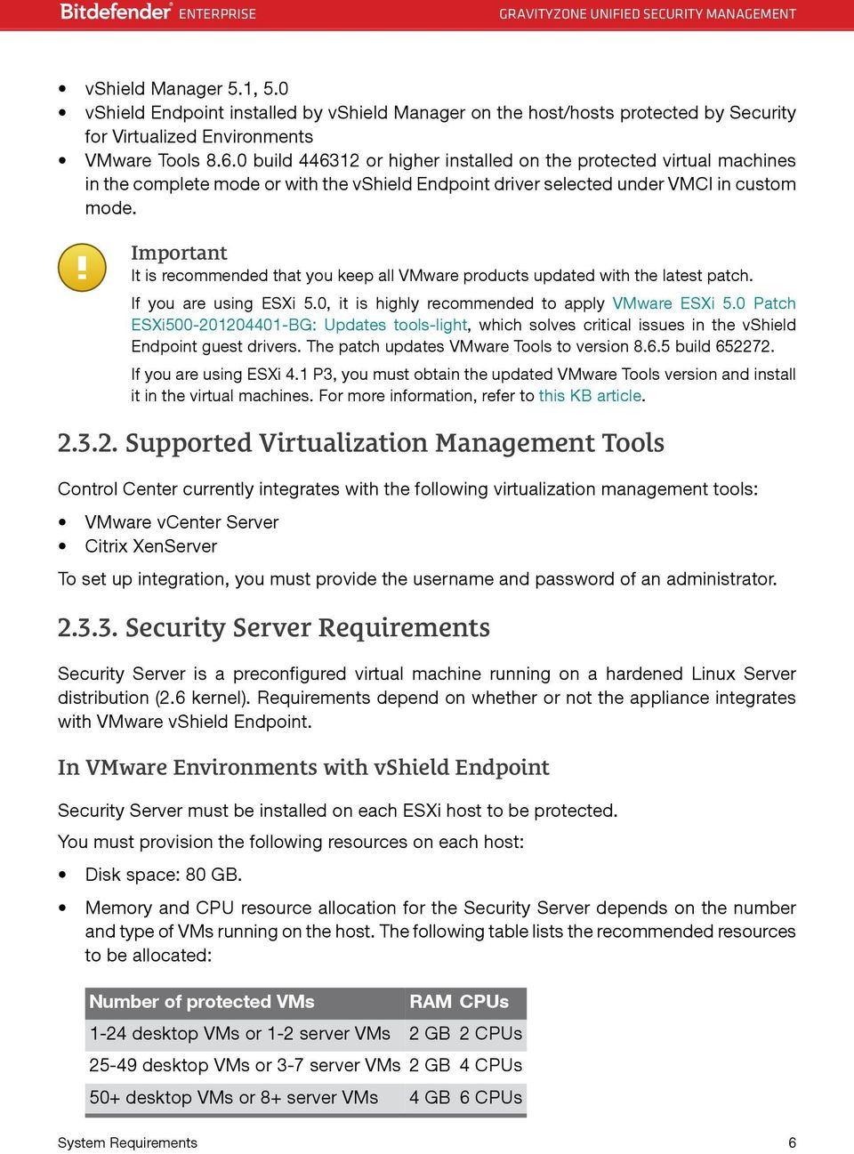 Important It is recommended that you keep all VMware products updated with the latest patch. If you are using ESXi 5.0, it is highly recommended to apply VMware ESXi 5.