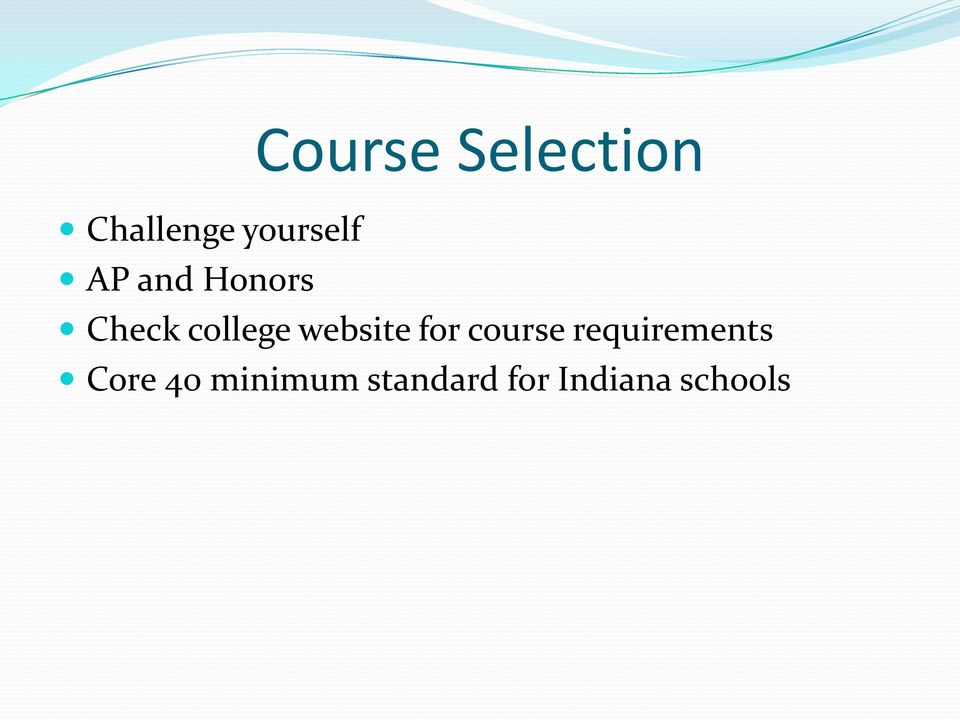 college website for course