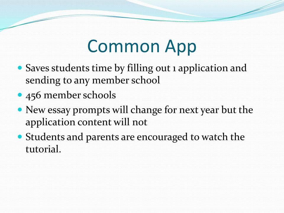 prompts will change for next year but the application content