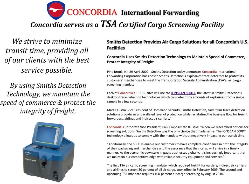iths Detection Technology, we maintain the speed of commerce & protect the integrity of freight. Sm