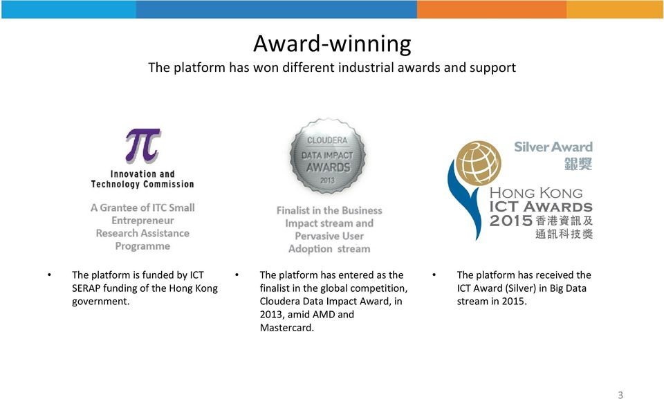 The platform has entered as the finalist in the global competition, Cloudera Data Impact