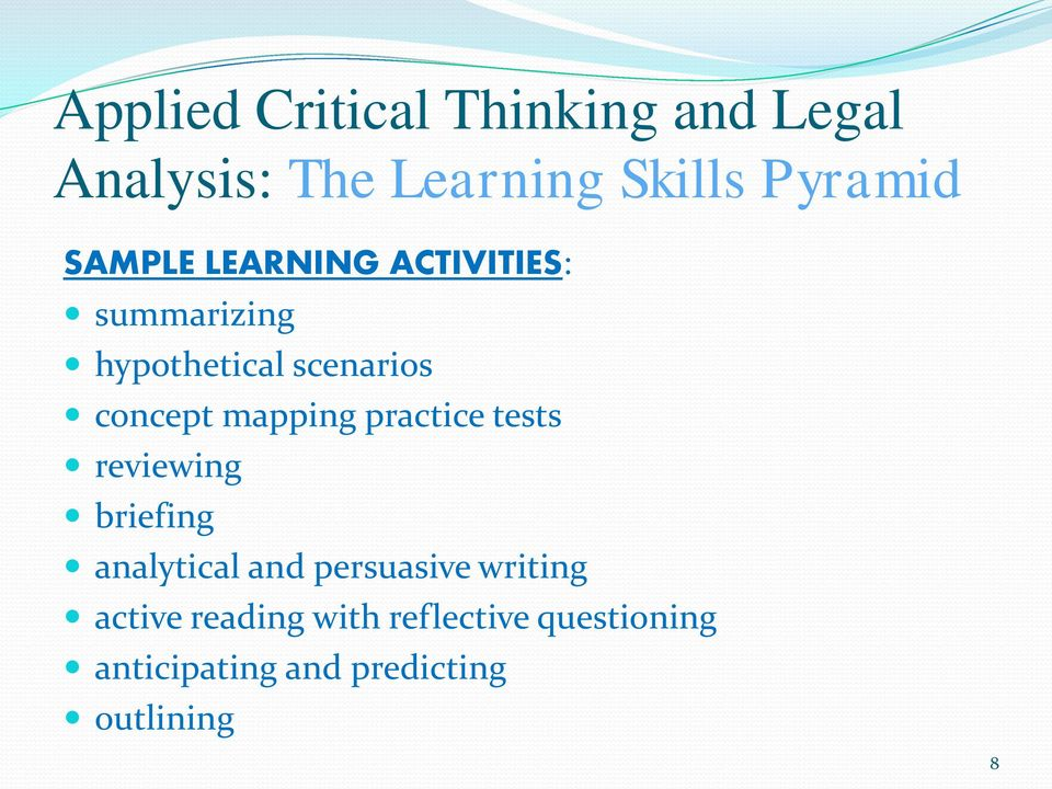 briefing analytical and persuasive writing active reading