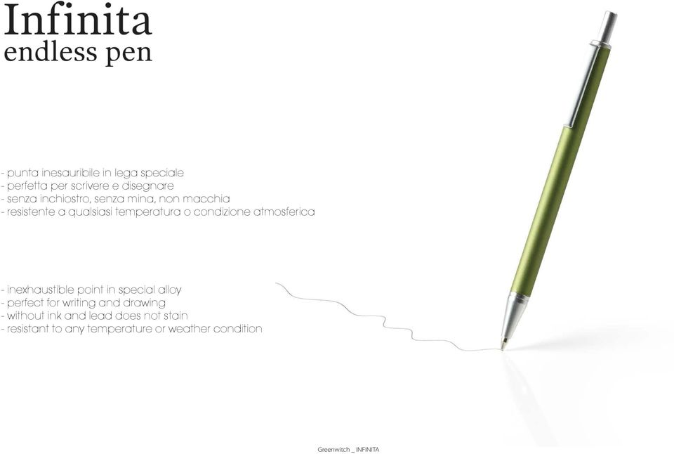 atmosferica - inexhaustible point in special alloy - perfect for writing and drawing -