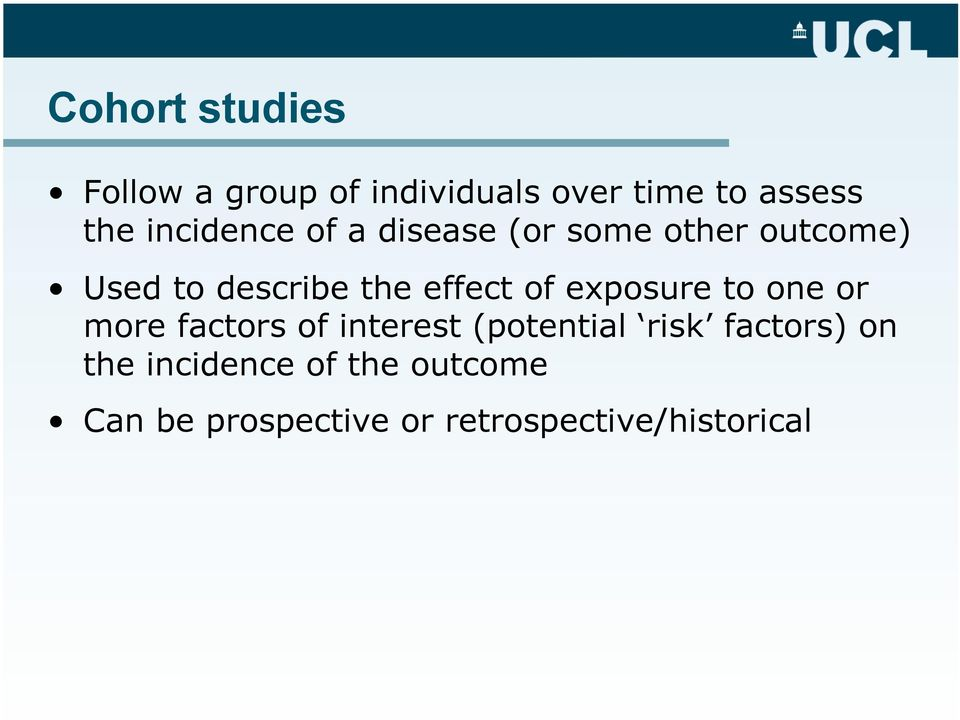 effect of exposure to one or more factors of interest (potential risk