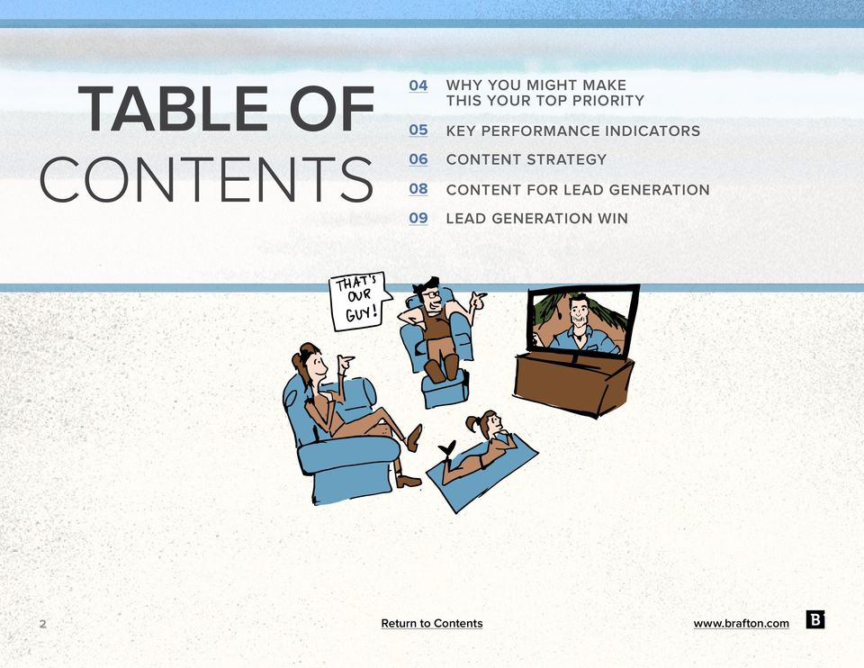 PERFORMANCE INDICATORS CONTENT STRATEGY