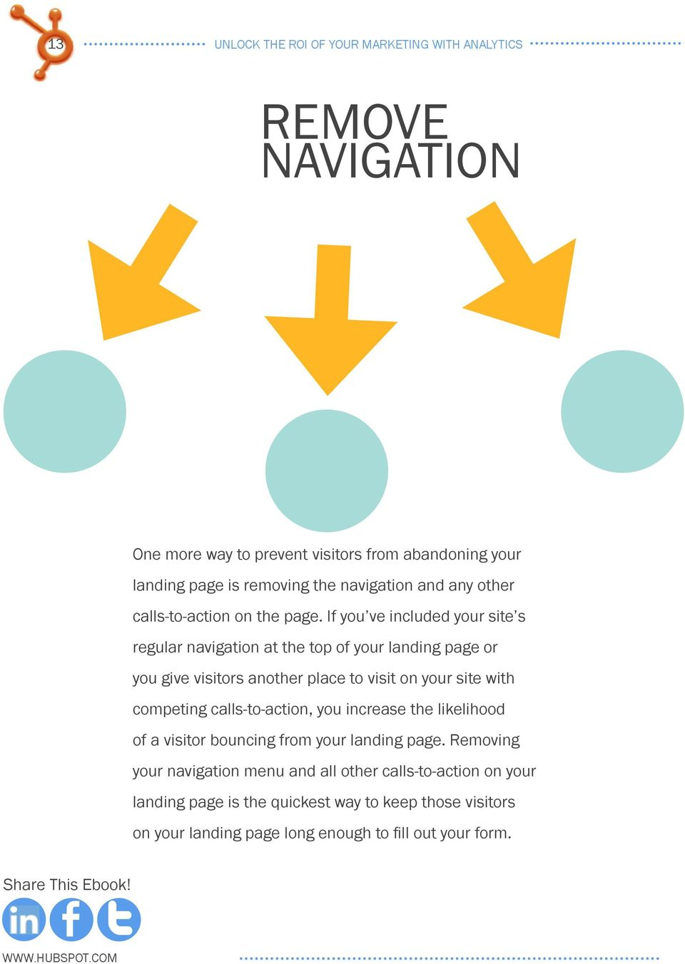 If you ve included your site s regular navigation at the top of your landing page or you give visitors another place to visit on your site with