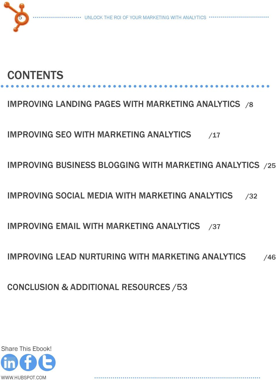 Improving Social Media with marketing analytics /32 Improving Email with marketing
