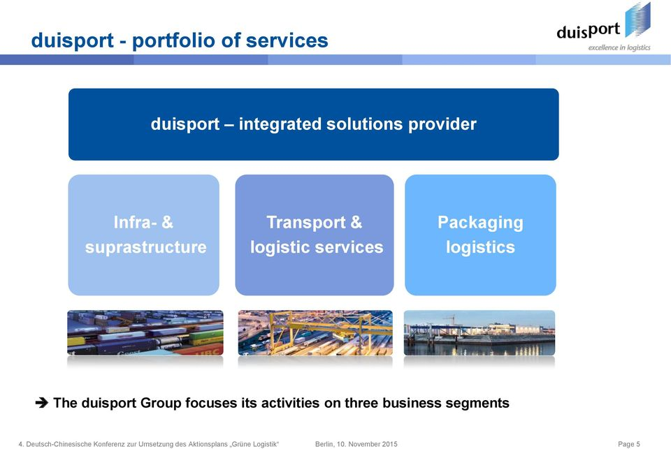 logistic services Packaging logistics The duisport