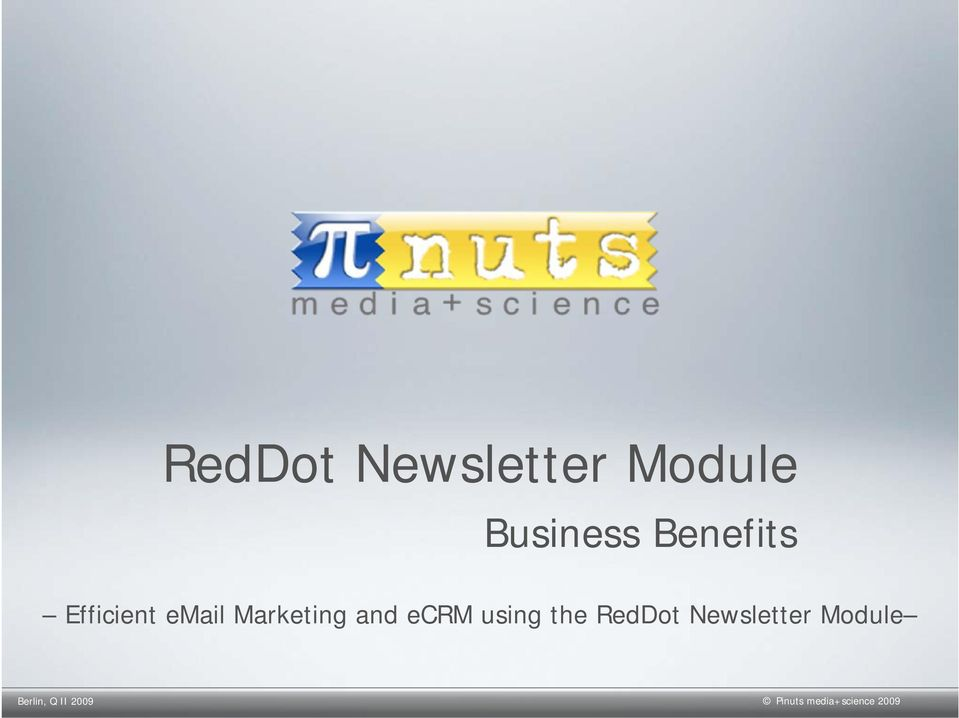 ecrm using the RedDot Newsletter