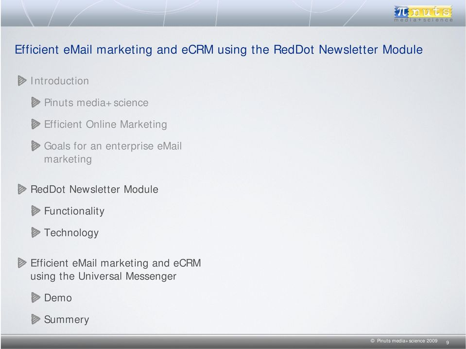 enterprise email marketing RedDot Newsletter Module Functionality Technology