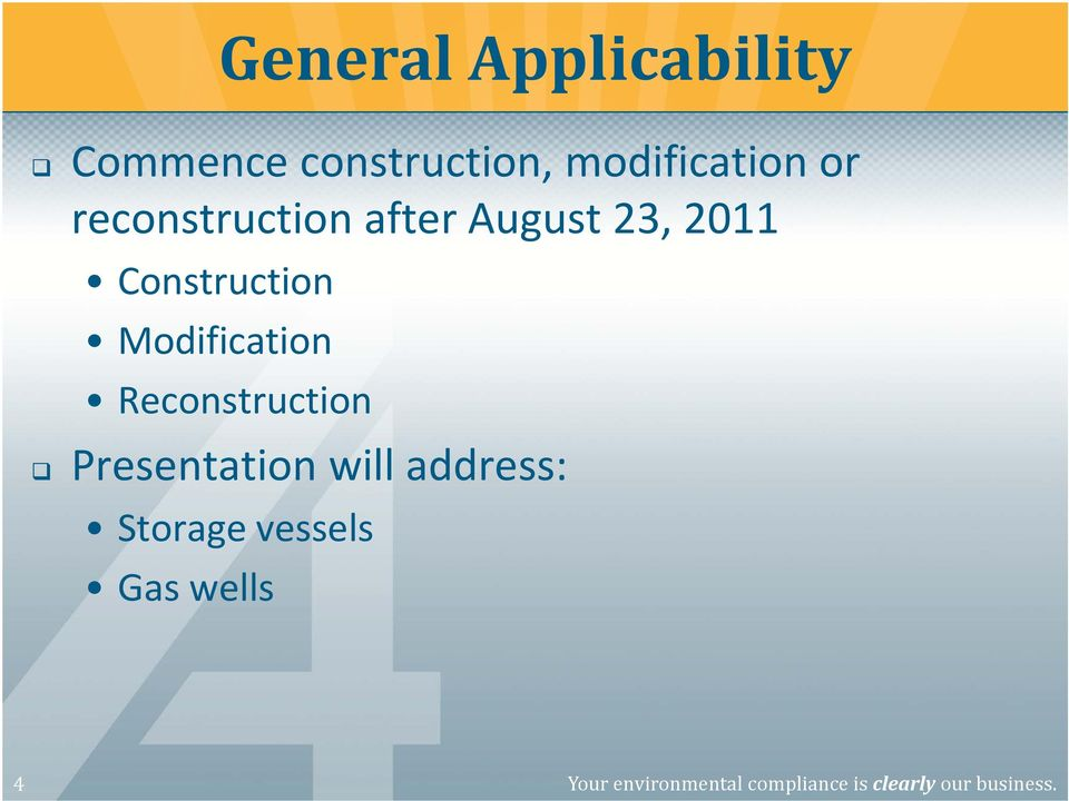 Modification Reconstruction Presentation will address: