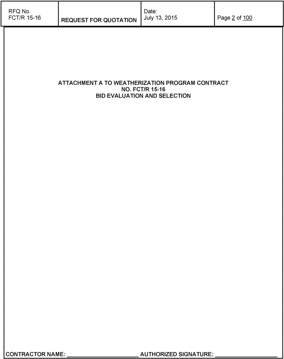 2015 Page 2 of 100 ATTACHMENT A TO WEATHERIZATION