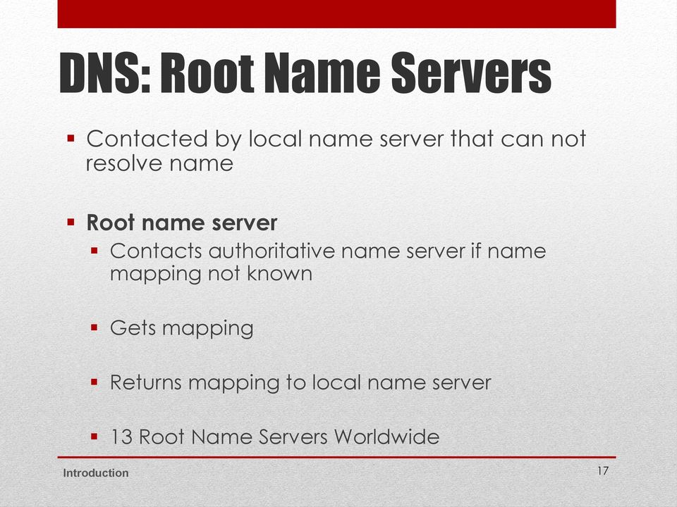 server if name mapping not known Gets mapping Returns mapping