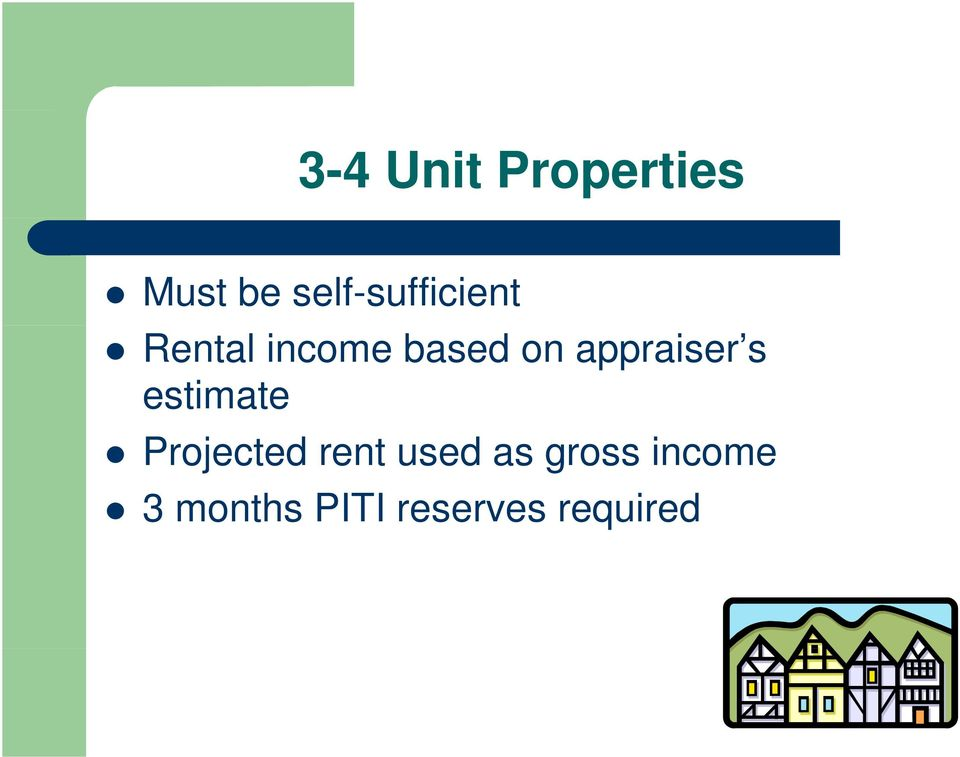 appraiser s estimate Projected rent