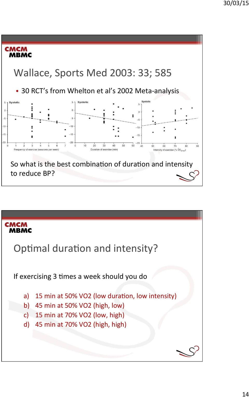 mes a week should you do a) 15 min at 50% VO2 (low dura.