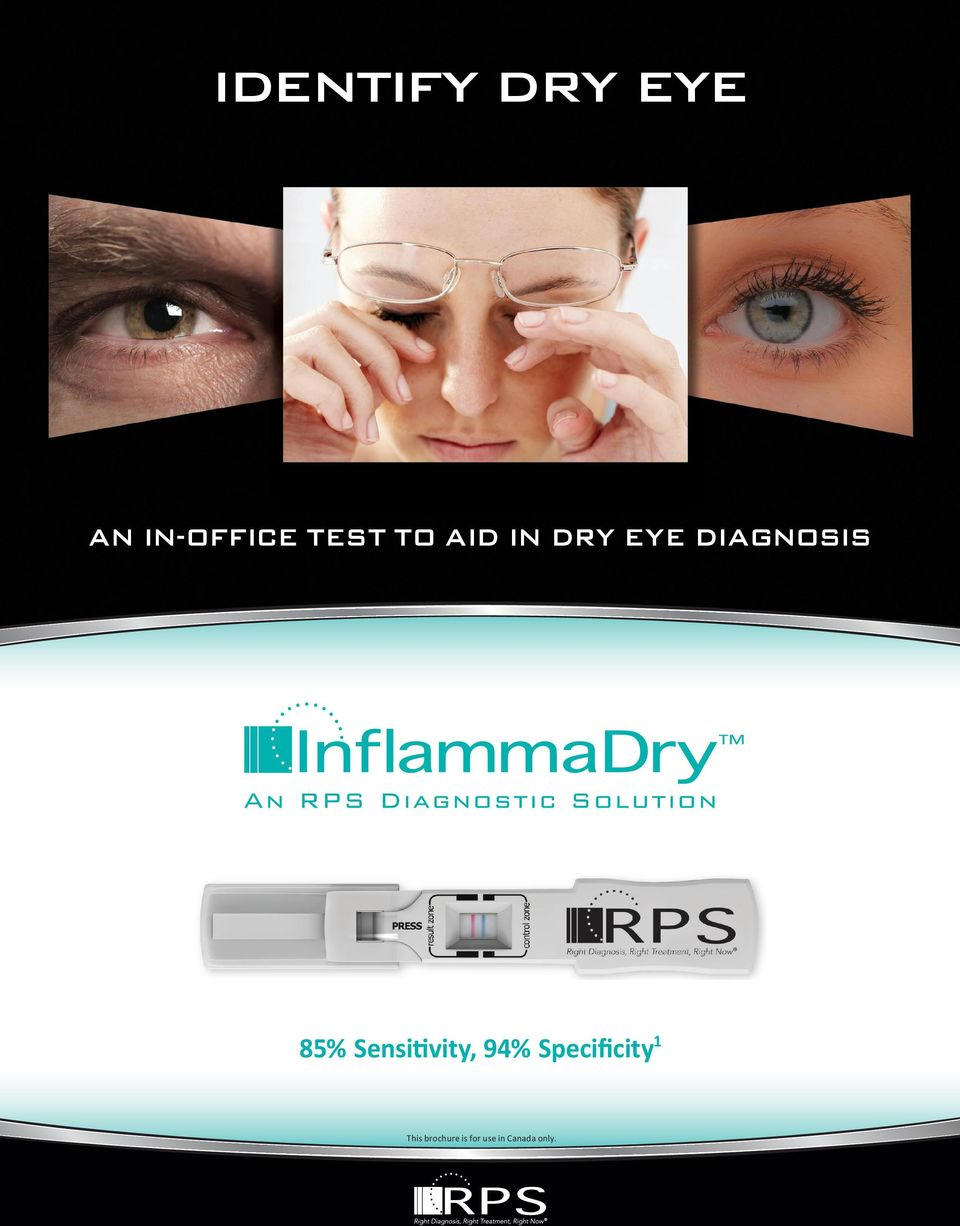 DRY EYE DIAGNOSIS 85%