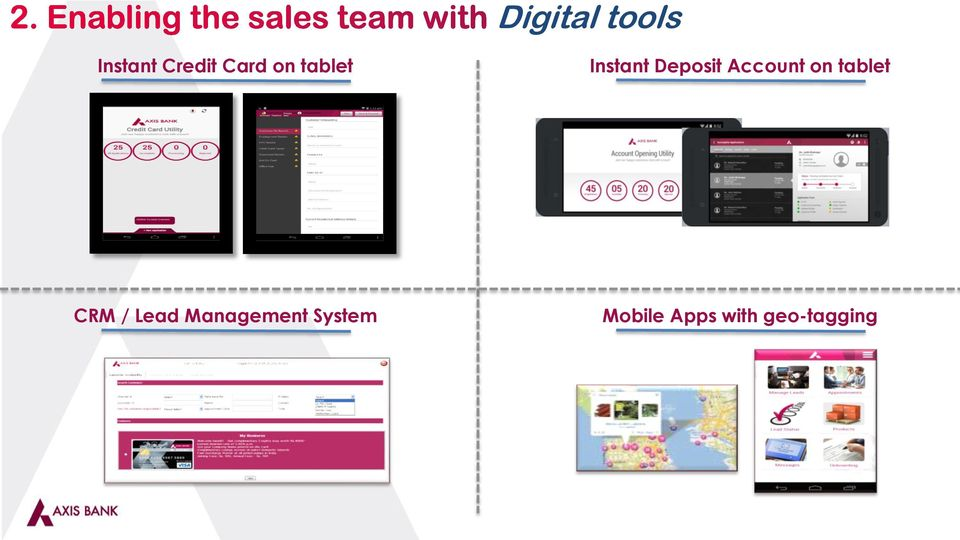 on tablet CRM / Lead Management