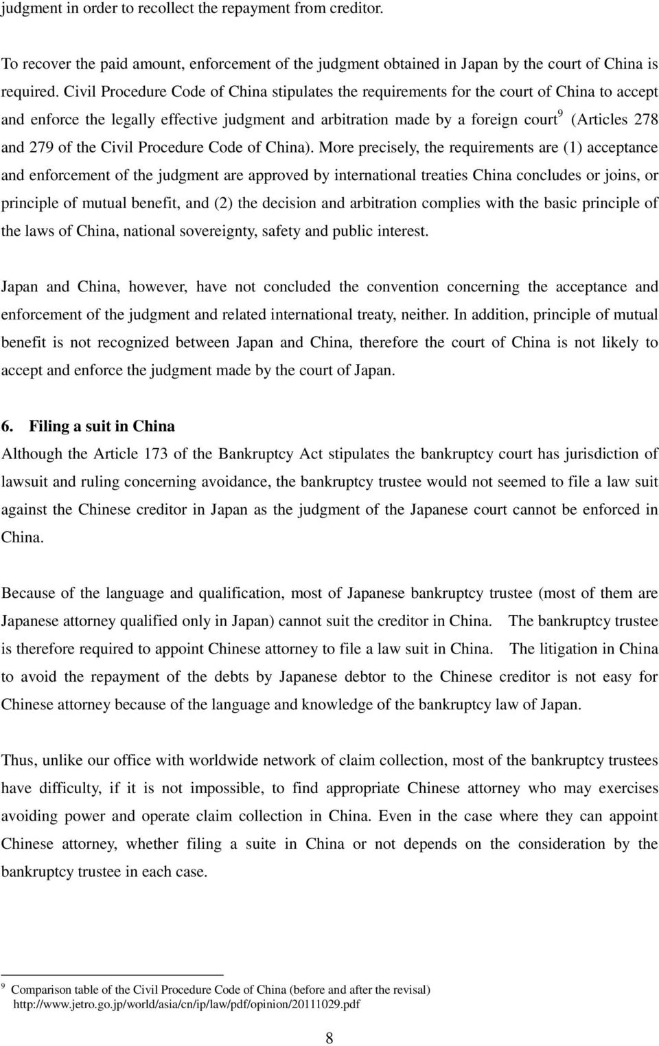 of the Civil Procedure Code of China).