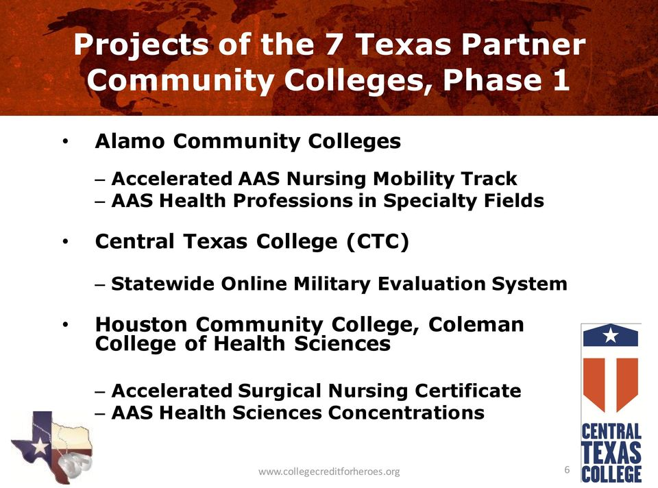 Statewide Online Military Evaluation System Houston Community College, Coleman College of Health
