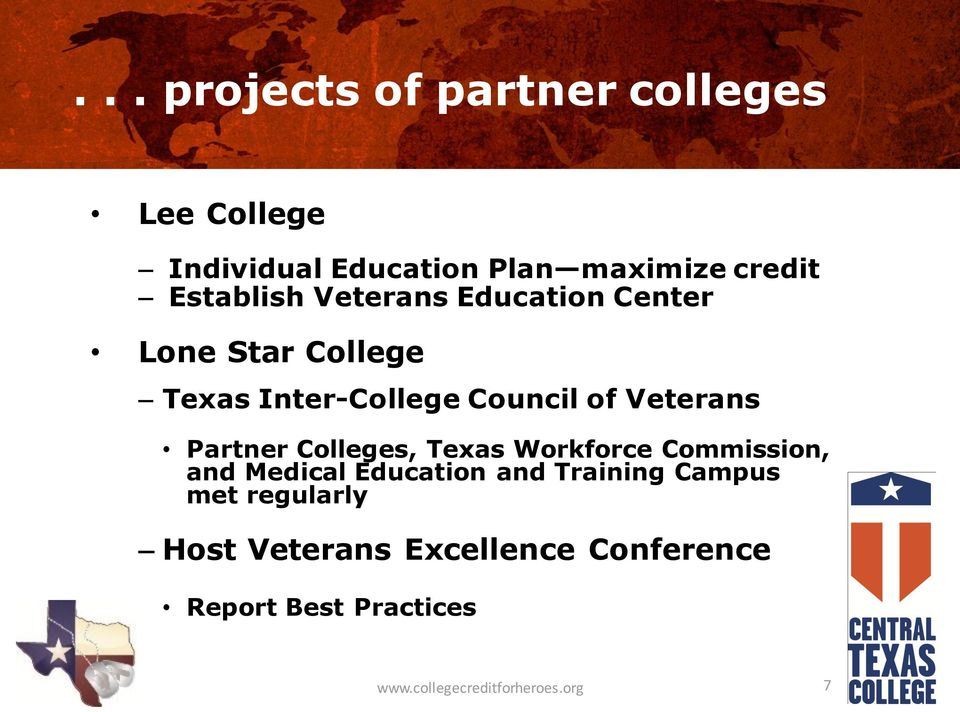 Partner Colleges, Texas Workforce Commission, and Medical Education and Training Campus met