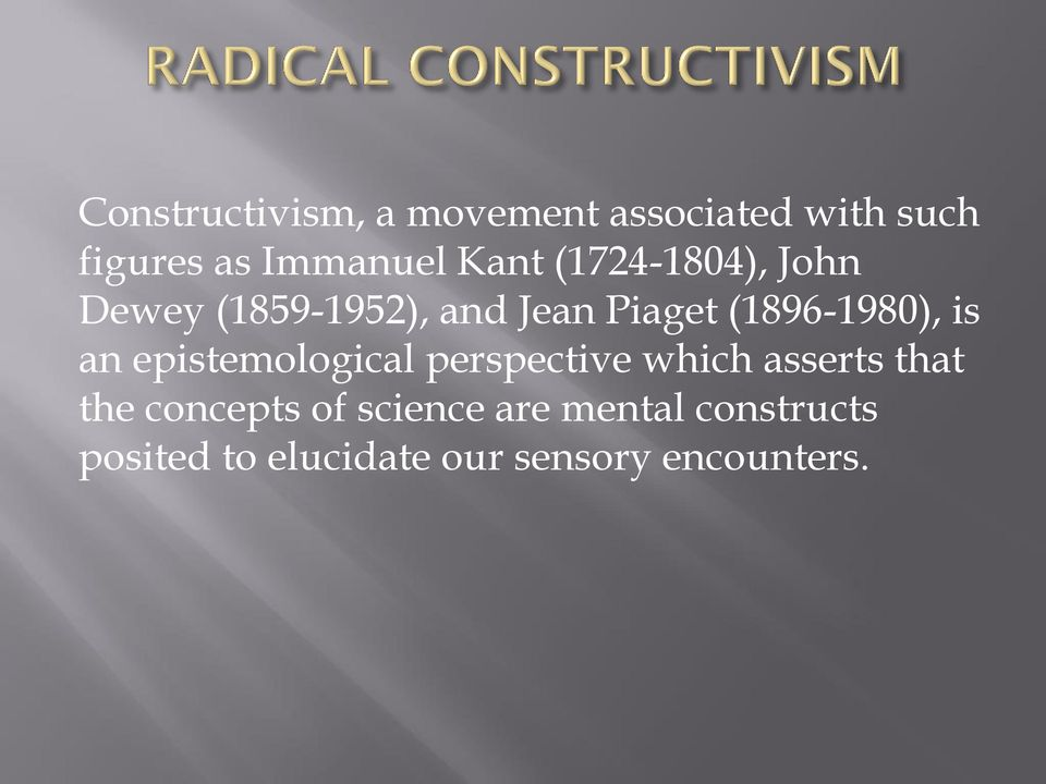 is an epistemological perspective which asserts that the concepts of