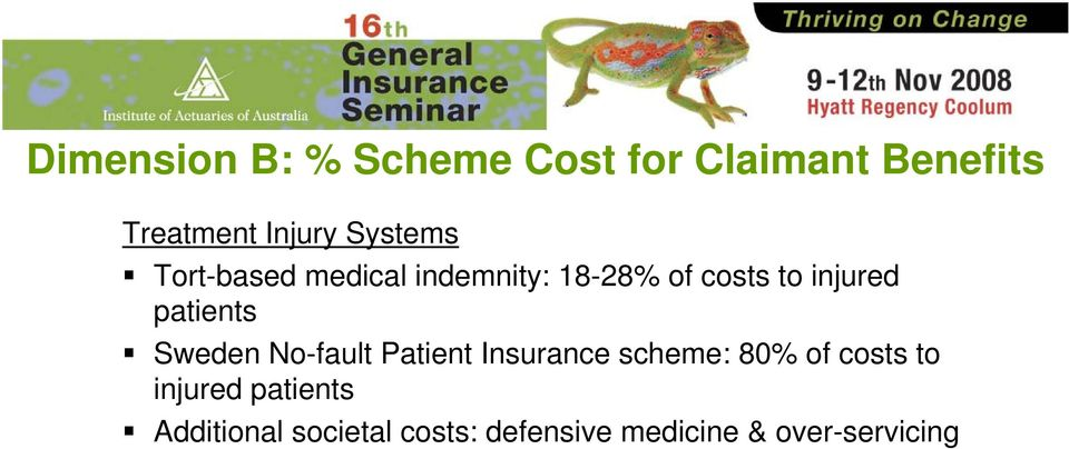 patients Sweden No-fault Patient Insurance scheme: 80% of costs to