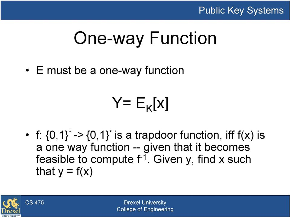 function, iff f(x) is a one way function -- given that it