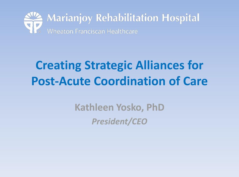 Coordination of Care
