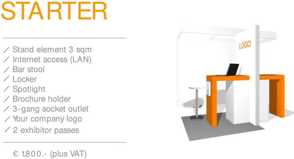 Brochure holder 3-gang socket outlet Your