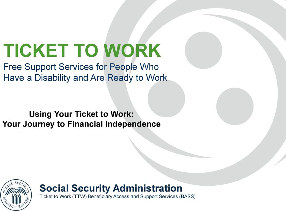 Your Journey to Financial Independence Social Security