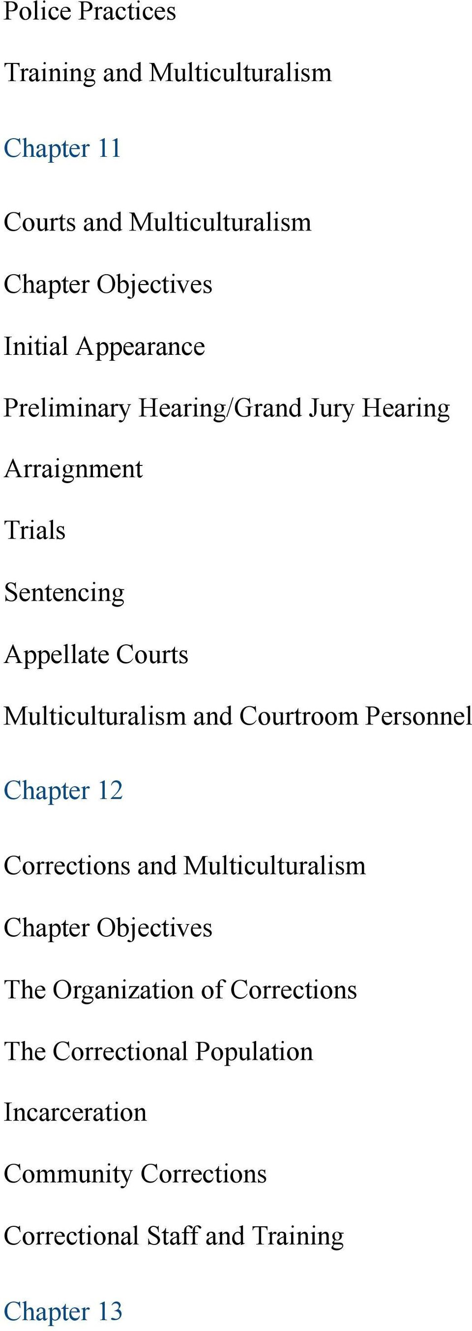 Multiculturalism and Courtroom Personnel Chapter 12 Corrections and Multiculturalism The Organization